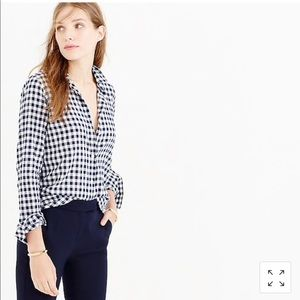 J. Crew Perfect Gingham Shirt